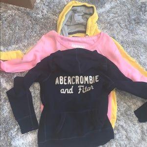 Bundle of 3 Abercrombie & Fitch sweatshirt.